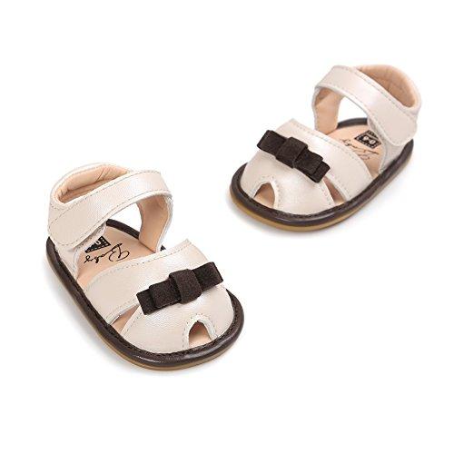 Sandalias De Bebe,BOBORA Prewalker Zapatos Primeros Pasos Para Bebe Bebe Mariposa Nudo PU Cuero Inferior Sandalias rosa rojo