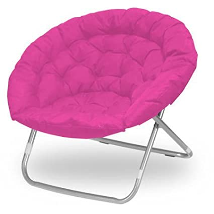 Attrayant Oversized Folding Moon Chair, Multiple Colors, Large, Round (Pink)