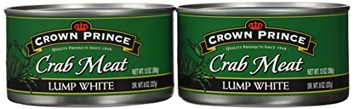 Crown Prince Lump White Crab Meat, 13-Ounce Cans (Pack of 2)