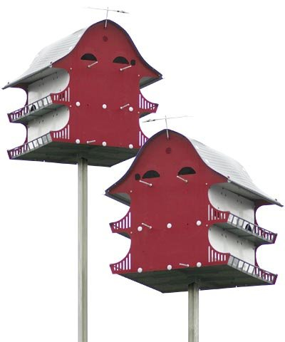BestNest S&K Dual Purple Martin Barns with Expandable Option
