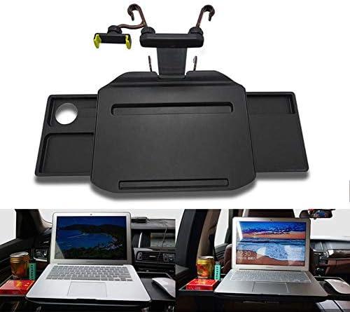ラップトップコンピュータの表シートバックトレイグッズ折りたたみ多機能車のハンドル電話ホルダーユニバーサルカーデスクコーヒーホルダー