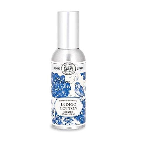 Michel Design Works Home Fragrance Spray, Indigo Cotton,