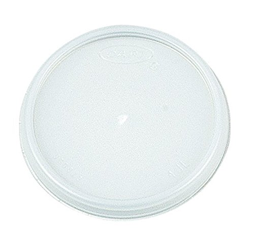 Dart 20JL Translucent Plastic Vented Lid 100-Pack (Case of 10)