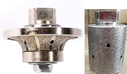 3/4 Diamond 20 mm Demi Bullnose Roundover Bullnose B20 Router Bit shaping wheel 3 1/2 Diamond Zero Tolerance Grinding Drum for stone concrete granite marble counter top sink repair refinishing