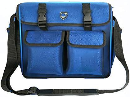 耐久性工具バッグ マルチポケット広口木工パワーツールのショルダーバッグ多機能工具収納ハンドバッグの機能テクニシャンバッグ 工具収納&仕分け管理&運搬用 (色 : Blue 600D, Size : One size)