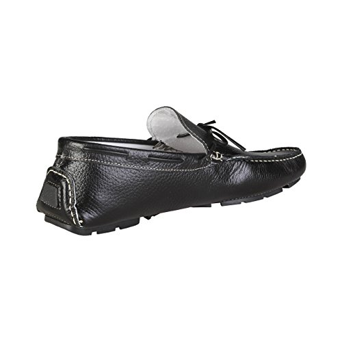 V 1969 - JORIS_NERO Herren-Müßiggänger Mokassin Schlüpfen Auf Schuhe Bootsschuhe 100% ECHTLEDER