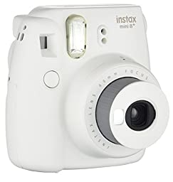 Fujifilm Instax Mini 8+ (Vanilla) Instant Film Camera + Self Shot Mirror for Selfie Use - International Version
