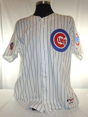 Majestic Cubs Pinstripe Authentic Jersey - 9