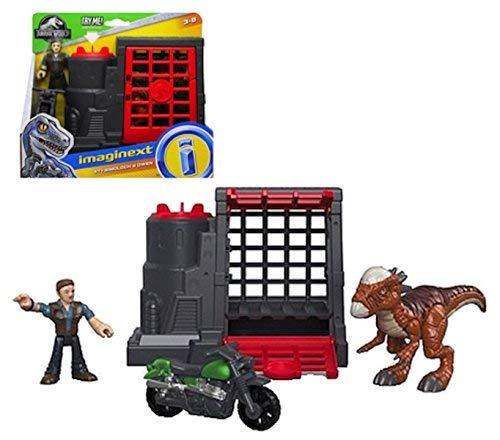 Jurassic World Stygimoloch & Owen Imaginext Figures