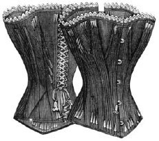 """1891 Young Ladies Corset Pattern - Multi-Size - 34-50"""" Bust - 21-37"""" Waist"""