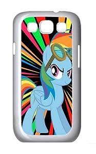 Rainbow Pony Custom Hard Back Case Samsung Galaxy S3 SIII I9300 Case Cover - Polycarbonate - White