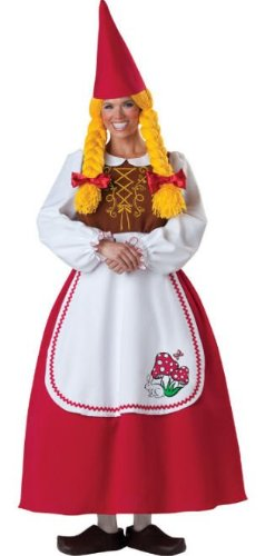Mrs Garden Gnome Costumes (Mrs. Garden Gnome Costume - Medium - Dress Size 6-10)