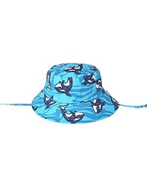 Pure Cotton Baby Bucket Hat Summer Thin Baby Boys Wide Brim Sun Caps