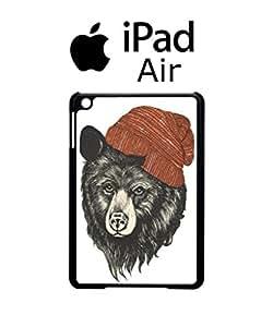Bear with Beanie iPad Air Tablet Black