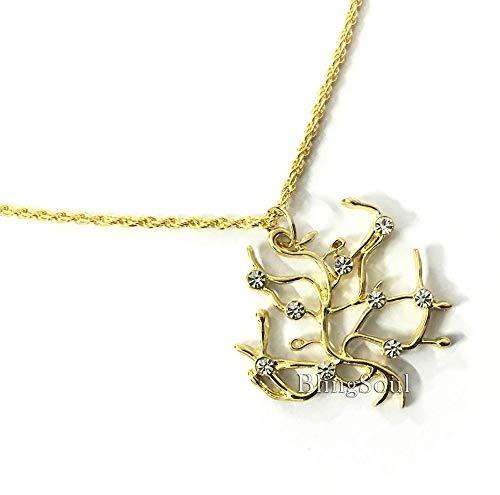 BlingSoul Beauty Emma Watson Necklace - Beast Princess Belle Tree Pendant Jewelry Merchandise Gifts Women Girls -