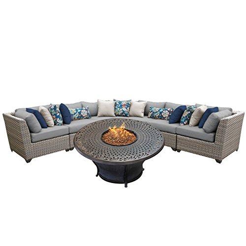 - TK Classics FLORENCE-06l 6 Piece Outdoor Wicker Patio Furniture Set