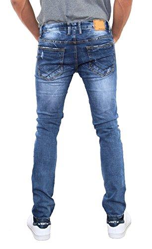 Black Ace negro Hombre Azul a slim 39 denim pantalones vaqueros o azul 46 4 Slim BrrdAq8