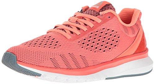 (Reebok Women's Print Run Smooth ULTK Shoe, Fire Coral/Stellar Pink/White/Stonewash/Pewter, 5 M US)