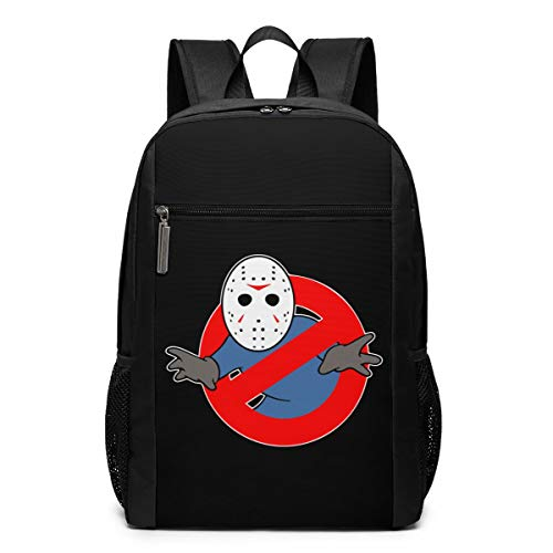 (Cheny Ghostbusters Jason Voorhees Children's Lightweight Canvas Travel Backpacks School Book Bag 17 Inch)