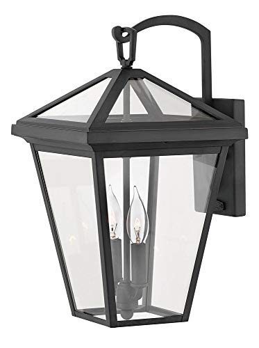 Hinkley 2564MB Alford Place Outdoor Wall Sconce, 2-Light, 120 Total Watts, Museum Black