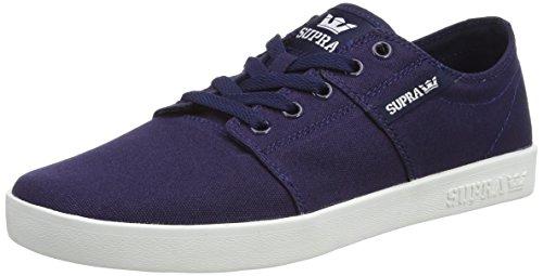 marineblå Blue Stacks Voksen Unisex Ii Nvy Hvid D Sneaker Blau Supra Lærred zwxqB4B0