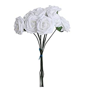 Joylive 10pcs Artificial Foam Rose Flowers Wedding Bridal Bouquet Party Décor 5.5cm 47