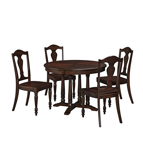 Bowery Hill 5 Piece Dining Set in Aged Bourbon