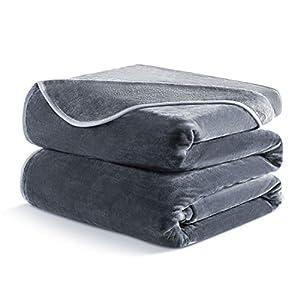 DREAMFLYLIFE Luxury Fleece Blanket, Warm Soft Blanket King Size Thick Blanket for Bed