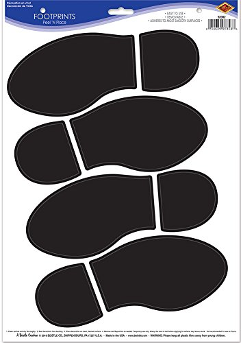 [Shoe Footprint Party Decor Peel 'N Place Decal] (Bollywood Party Decorations)