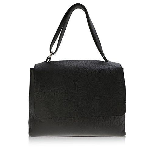 Bolso de Mano para Mujer Made in Florence Piel Genuina 33*25*14 cm Negro