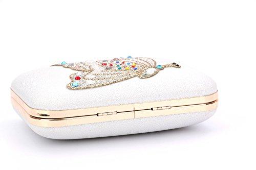 à mariée Papillon Cristal de Sac Diamant Main de FYios powder Sac FxBSw5pwq