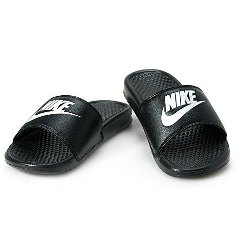 Tongs de plage/piscine Nike Benassi Jdi pour homme - - noir/blanc, 40 EU
