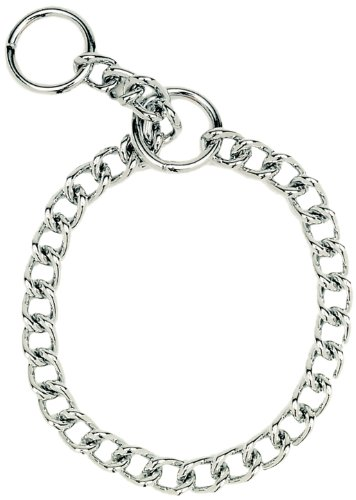 Herm Sprenger Steel Chain Choke  Dog Collar 20 in. with 3 mm. Heavy links (Choke Steel Heavy Collar)