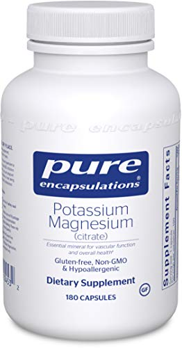 Pure Encapsulations – Potassium Magnesium (Citrate) – Hypoallergenic Supplement to Support Heart, Muscular, and Nerve Health* – 180 Capsules Review