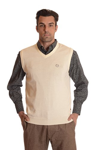 Ardorr Men's 100% Cotton V Neck Sweater Vest