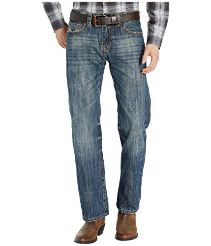 - Rock and Roll Cowboy Men's Pistol Straight Leg Jeans in Medium Vintage M1P1060 Medium Vintage 32 36