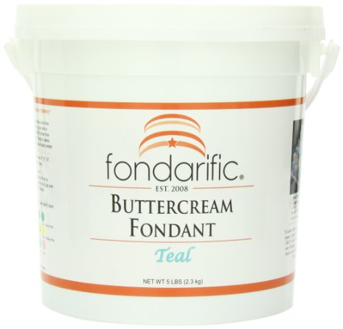 Fondarific Buttercream Teal Fondant, 5-Pounds by Fondarific