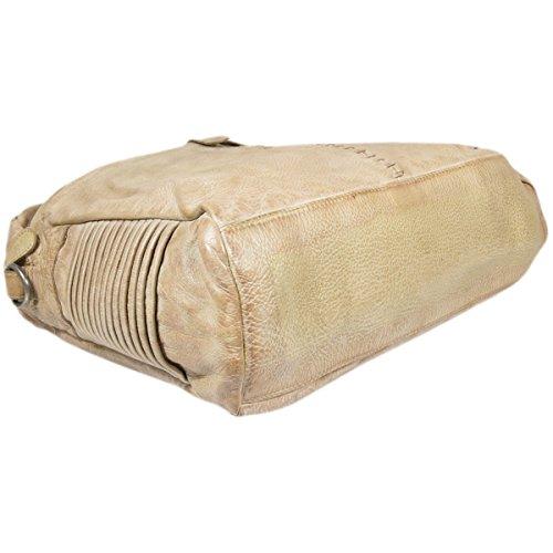 Taschendieb 411ta - Bolso de hombro de cuero unisex Beige - beige