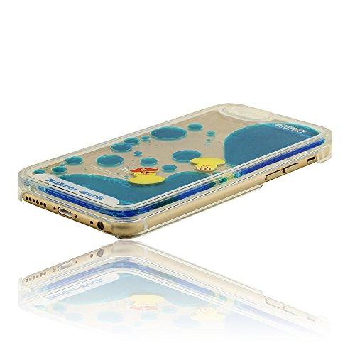Mode Flüssigkeit iPhone 6 6S (4.7 Zoll) Hülle Handy Cover Case + Delicate Pendant, Niedlich Pirat Schwimmende Gelbe Ente, (iPhone 6 Plus 5.5 Zoll ist nicht enthalten), Transparent Shcwer Rubber Duck S