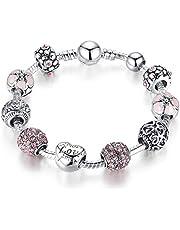 """""""قلب الحب"""" سوار وردي ساحر للنساء الفتيات أزياء مجوهرات هدية عيد الأم 20 سم"""