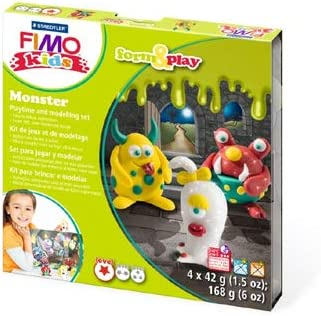 FIMO Kids Oven Hardening Modelling Clay Form /& Play Figures Background Scene Set