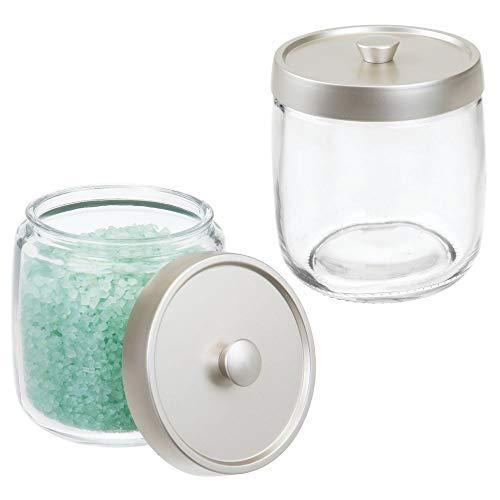mDesign Bathroom Vanity Glass