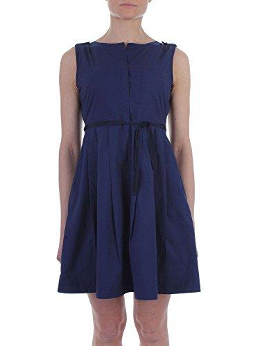 Popeline Woolrich Dress Grape Donna Leaf W's Abito Pocket Indigo tHq6HaZ4wr