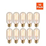 Bulbrite Incandescent Light Bulbs-40 Watts E36 Base Bulb- Traits T14 shape & 2200K color temperature- Exemplary fits in Decorative lights, Chandeliers & Light Strings - pack of 10 - By GoodBulb