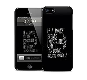 it always seems impossible nelson mandela iPhone 5 / 5S protective case