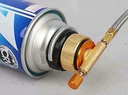 Outdoor Gas Gasflaschenadapter Weisung D/üsenanschluss f/ür Campingkocher Brenner