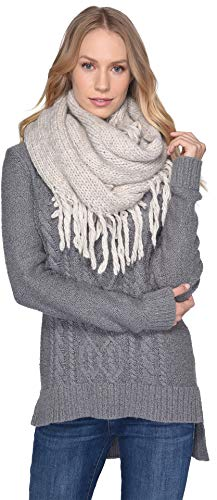 Used, UGG Women's Fringe Knit Scarf Beige One Size for sale  Delivered anywhere in USA