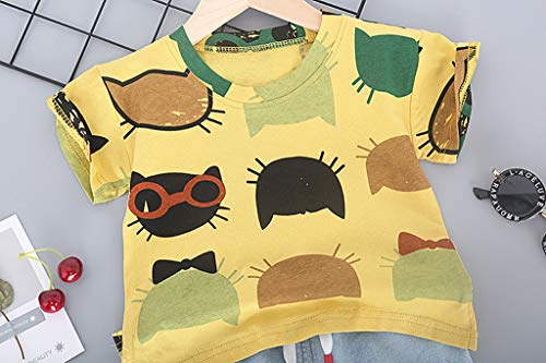 Amazon.com: Iuhan 2PCS Clothes Set Baby Boys Cartoon Print Tops T ...