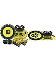 """$60 » 2Way Custom Component Speaker System 6.5"""" 400 Watt Component with Electroplated Steel Basket & Car Three-Way Speaker System - Pro 4 x 6 Inch 180W 4 Ohm Mid Tweeter Component Audio Sound Speakers"""