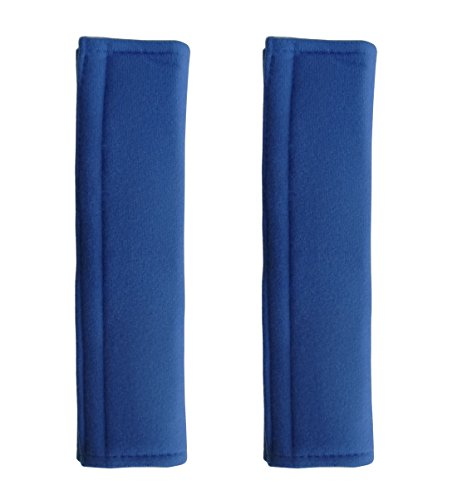 PENTA ANGEL Soft Comfortable Thick Auto Car Seat Safety Belt Strap Covers Shoulder Pad for Men and Women (Blue, 2PCS)